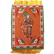 Wonderful WWI Italian Soldier Dollhouse Rug for your Doll's Little Palace!