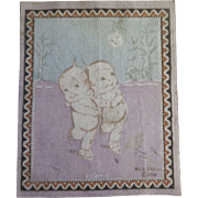 Precious Dollhouse Rug - Kewpies Skating in the Moonlight