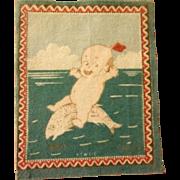 Darling Dollhouse Rug - Kewpie Riding a Fish