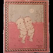 Kewpie Dollhouse Rug - Kewpie Skating in the Moonlight c1914