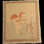 Kewpie Dollhouse Rug - Kewpie Target Practice c1914