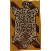 Beautiful Bold Antique Leopard Doll House Rug c1915