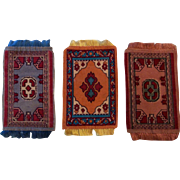 3 Antique Dollhouse Rugs for your Doll House