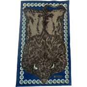 Strikingly Handsome Bison Dollhouse Rug