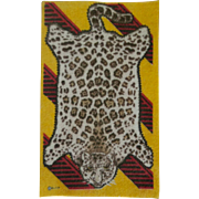 Striking Leopard Pelt Dollhouse Rug - Hard to Find