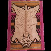 Striking Lynx or Bob Cat Pelt Dollhouse Rug