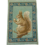 Sweet Squirrel Dollhouse Rug - Hard to Find
