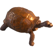 Wonderful Vintage Miniature Cold Painted Metal Tortoise for your Doll