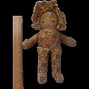 VIntage 1930s Oil Cloth Novelty Doll