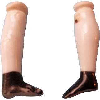 "Pair of 1-3/8"" Antique China Doll Legs"