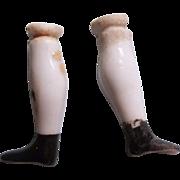 """Teeny Tiny 7/8"""" Antique China Doll Legs"""