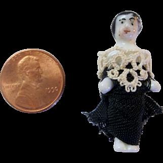 """Teeny Tiny 1-1/2"""" Frozen Charlotte Doll"""