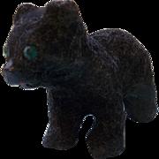 Sweet Little Flocked Black Bear for your Dolls