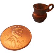 Teeny Tiny Copper Pitcher for Doll or Dollhouse