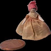 """Teeny Tiny 1"""" Grodnertal Peg Wooden Doll"""