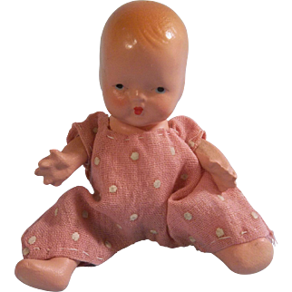 Adorable 1940s NASB Baby Doll with Starfish Hands