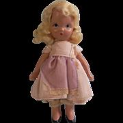Very Sweet Blond Nancy Ann Story Book Doll Frozen Legs c1940s