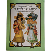 "Vintage Paper Dolls in Full Color - Raphael Tuck ""Little Maids"" ~ Pre-Holiday Sale … Think Christmas!!!"