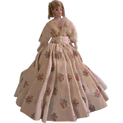 """Stunning and Sweet 6-1/4"""" Simon Halbig 1160 Dollhouse Doll with Desirable Double Strap Shoes"""
