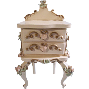 Lovely Vintage Spielwaren Night Stand for your Lucky Dolls