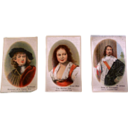 3 Antique Silk Pictures for your Dollhouse