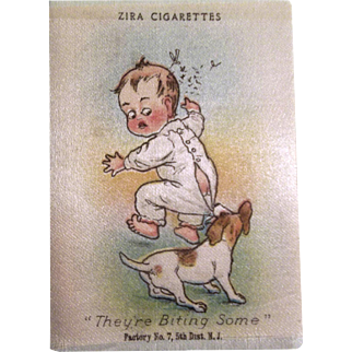 "Adorable Collectible Zira Cigarettes Tobacco Silk ""They're Biting Some"""