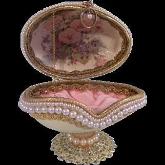Wonderful Vintage Artist Made Presentation Egg for a Small Doll
