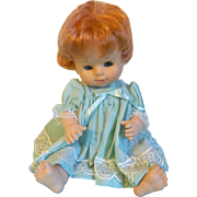 Adorable Vintage Red Head Famosa Vinyl Doll from Spain