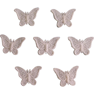 Lovely Vintage Applique Butterflies - Set of 7