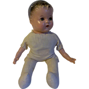 """Sweet 18"""" Vintage Composition Baby Doll with Cloth Body"""