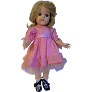 """Charming 1950s Vintage 15"""" Hard Plastic Mystery Doll"""