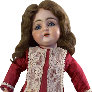 Vintage Size 10 Mohair Doll Wig for Bisque or Composition Dolls