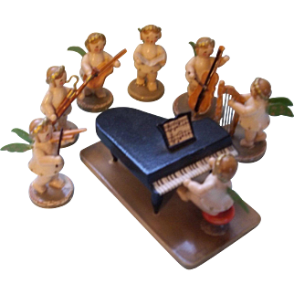 Wonderful Little Orchestra of Angels with Musical Instruments
