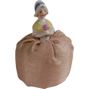 "Small Darling Vintage 3"" Pin Cushion Doll with Cloche Hat"