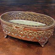 Vintage Matson Gold Tone Trinket Box, Circa 1960