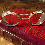 Vintage Wire Rim Safety Glasses, Circa 1930