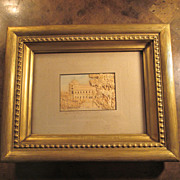 Early 19th Century European Cork Art  Architectural Picture