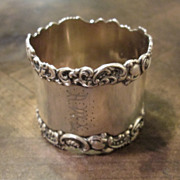 Sterling Silver Napkin Ring, Circa 1900