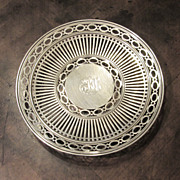 Sterling Silver Pierced Footed Dish Or Tray, Circa 1910