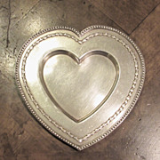 Christian Dior Silver Plate Heart Dish