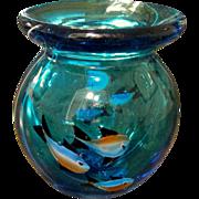 Mid Century Italian Murano Glass Aquarium Vase