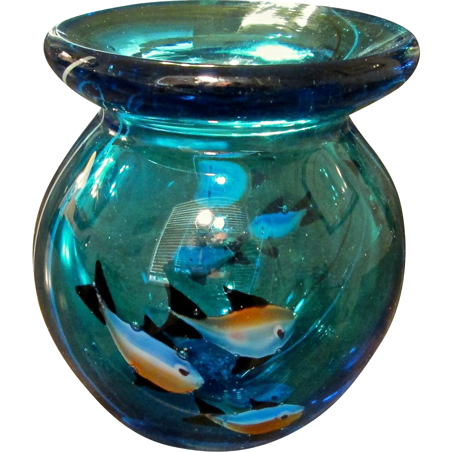 mid century italian murano glass aquarium vase from. Black Bedroom Furniture Sets. Home Design Ideas