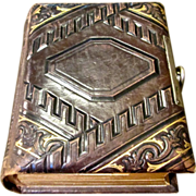 Small Embossed Victorian Leather Photo Album, Circa 1885