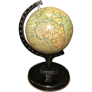 Vintage 1920's Reliable Series Tin World Globe