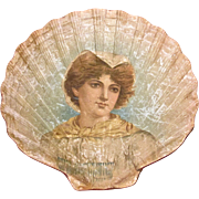 """Sally In Our Alley"" Embossed And Lithographed Paper Shell-Shaped Souvenir, Circa 1902"