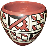 Vintage Jemez Pueblo Indian Pottery Bowl, Artist Signed G. Madalena
