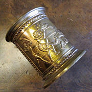 Brass Plated Wine Holder With Lead Liner, Circa 1900