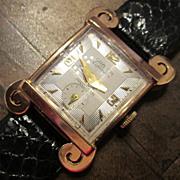 Vintage Gruen Curvex 18K Gold Men's Watch, Circa 1945