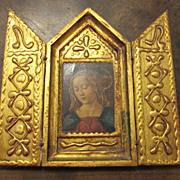 Vintage Florentine Triptych Religious Art