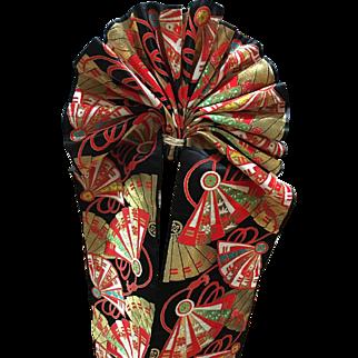 Colorful Japanese Vintage Silk Sash OBI Hanhaba Obi Home Decor